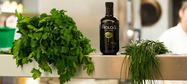 Kochen mit Olivenöl - Aiolos extra nativ